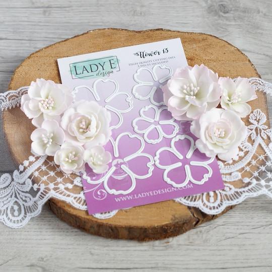 Set de 5 matrices de découpe Flower 13 LADY E DESIGN
