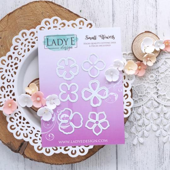 Set de 6 matrices de découpe Small Flowers LADY E DESIGN