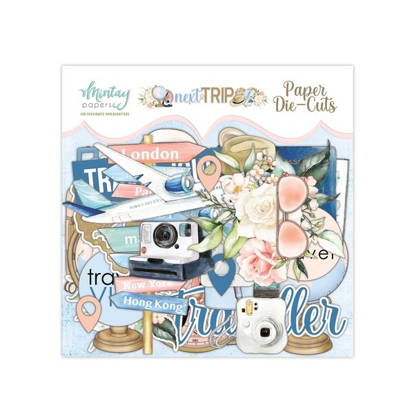Die cuts cardstock collection Next Trip MINTAY BY KAROLA