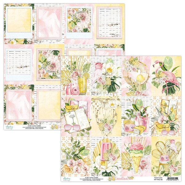 Set 12 papiers scrapbooking 30 x 30 collection Vacation MINTAY BY KAROLA