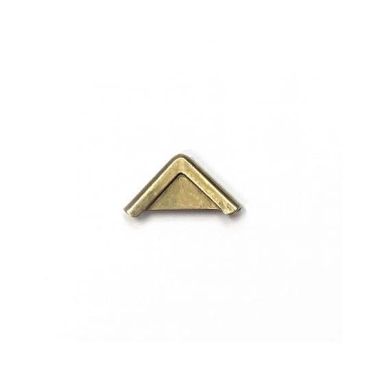Coins cartonnage en métal droit bronze doré