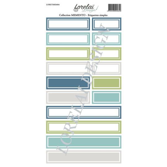 Planche d'étiquettes simples collection Memento LORELAÏ DESIGN