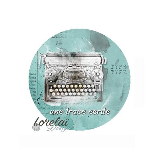 Badge scrapbooking  Une trace écrite collection Memento LORELAÏ DESIGN
