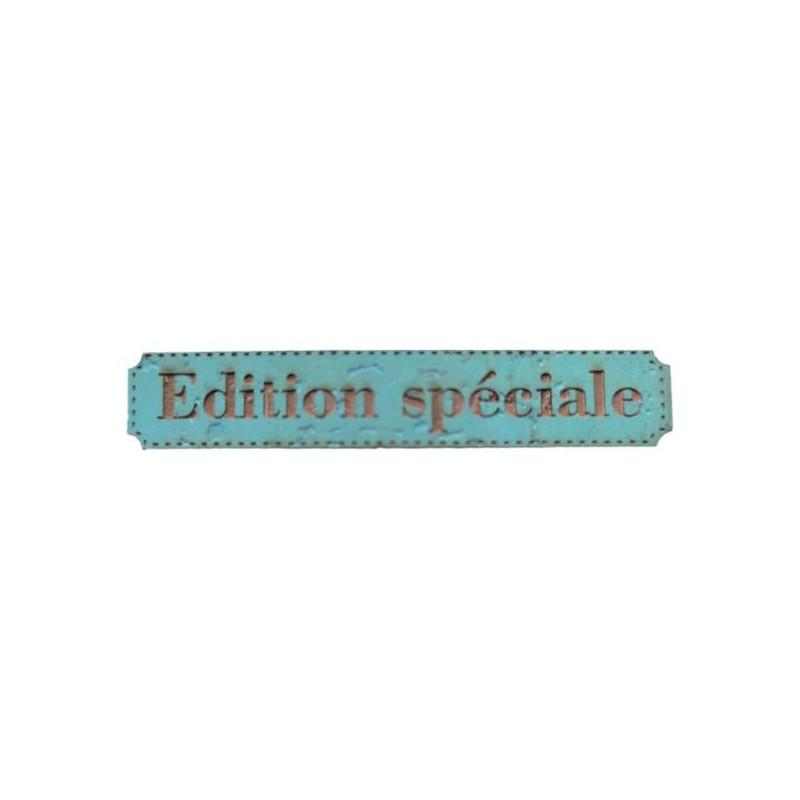 Etiquette gravée Edition spéciale en liège différents coloris au choix SCRAPMOUSET