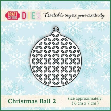 Matrice de découpe Boule de Noel 2 - Craft and You Design