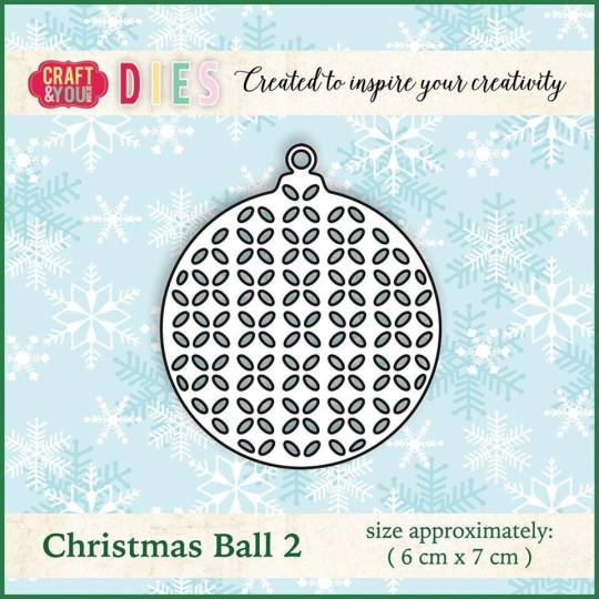 Matrice de découpe Boule de Noel 2 - Craft and You Design