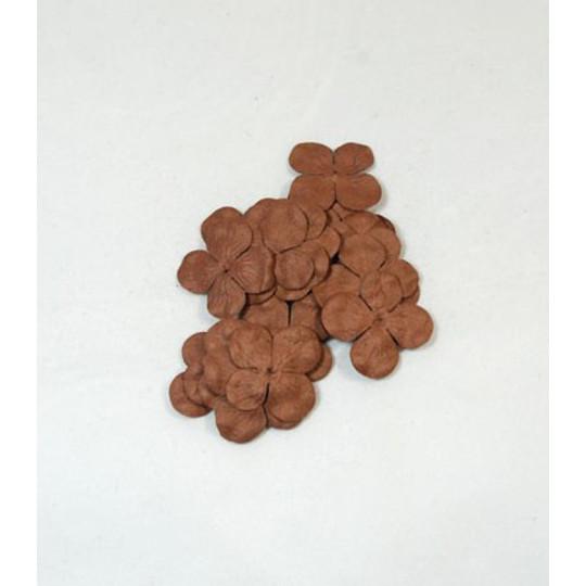 """Hydrangéas 2.5 cm """"Café"""" en papier mûrier"""