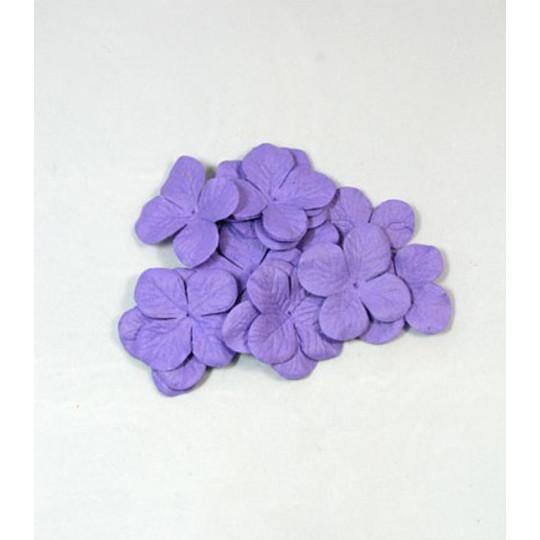 """Hydrangéas 3.5 cm """"Violet"""" en papier mûrier"""