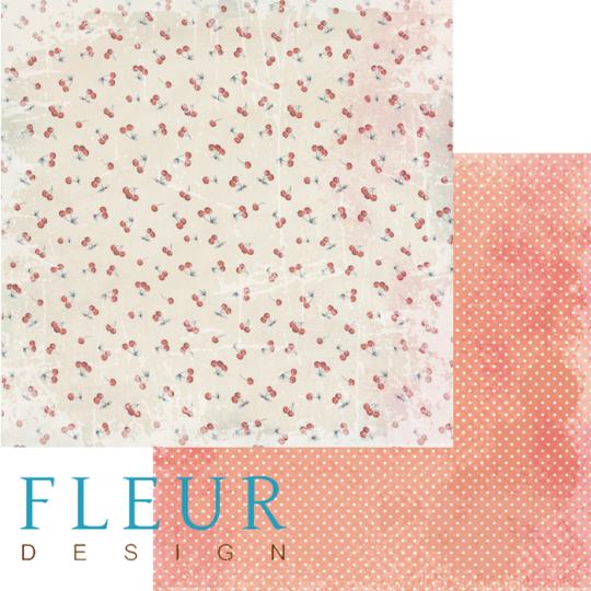 "Papier ""Cherry Garden"" collection ""Cherry Dessert"" de Fleur Design"