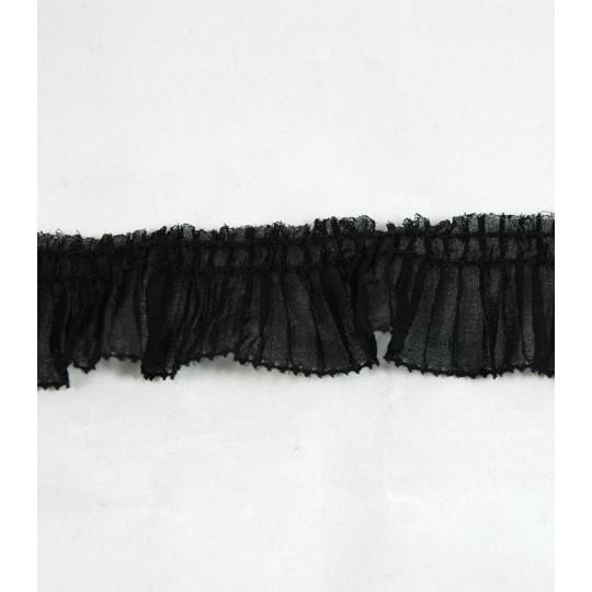 Ruban volanté noir