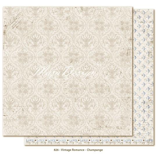 """Papier """"Champagne"""" collection """"Vintage Romance"""" de Maja Design"""