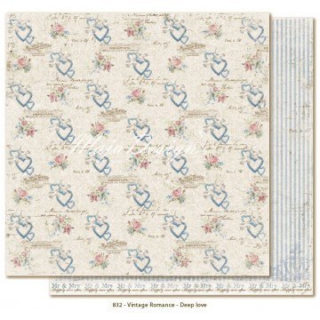"Papier ""Deep Love "" collection ""Vintage Romance"" de Maja Design"