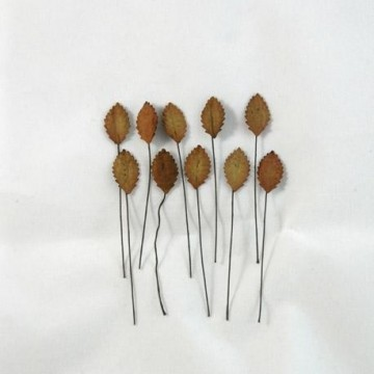 """Petites feuilles """"Marron"""" en papier mûrier"""