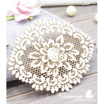 "Chipboard ""Napperon imitation dentelle"" de Scrapmouset"