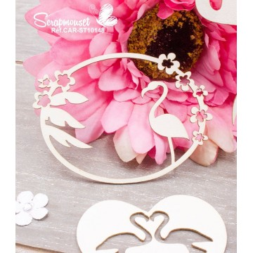 "Chipboards ""Thème flamand rose"" de Scrapmouset"