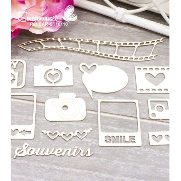 "Chipboards ""Photos souvenirs"" de Scrapmouset"