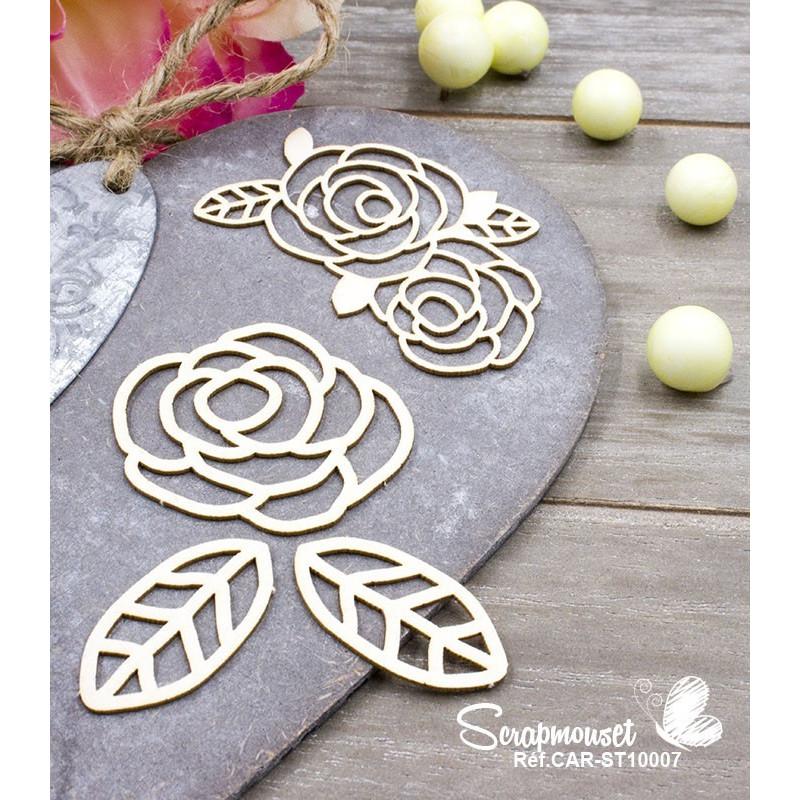 """Chipboard """"Cadre aux Roses"""" de Scrapmouset"""