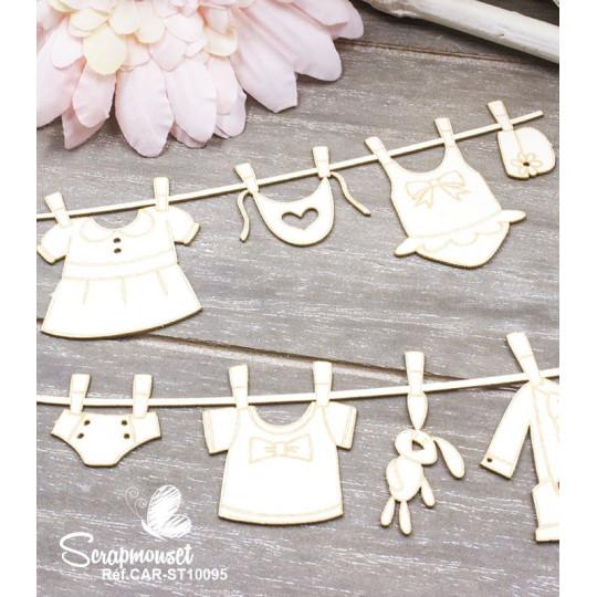 """Chipboards """"Bordures bébé fille et garçon"""" de Scrapmouset"""