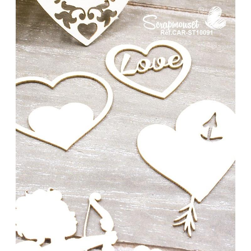 """Chipboards """"Déclaration d'amour"""" de Scrapmouset"""
