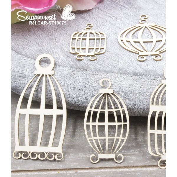 "Chipboards ""Cages"" de Scrapmouset"