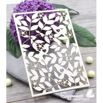 "Chipboard ""Fond Printemps"" de Scrapmouset"