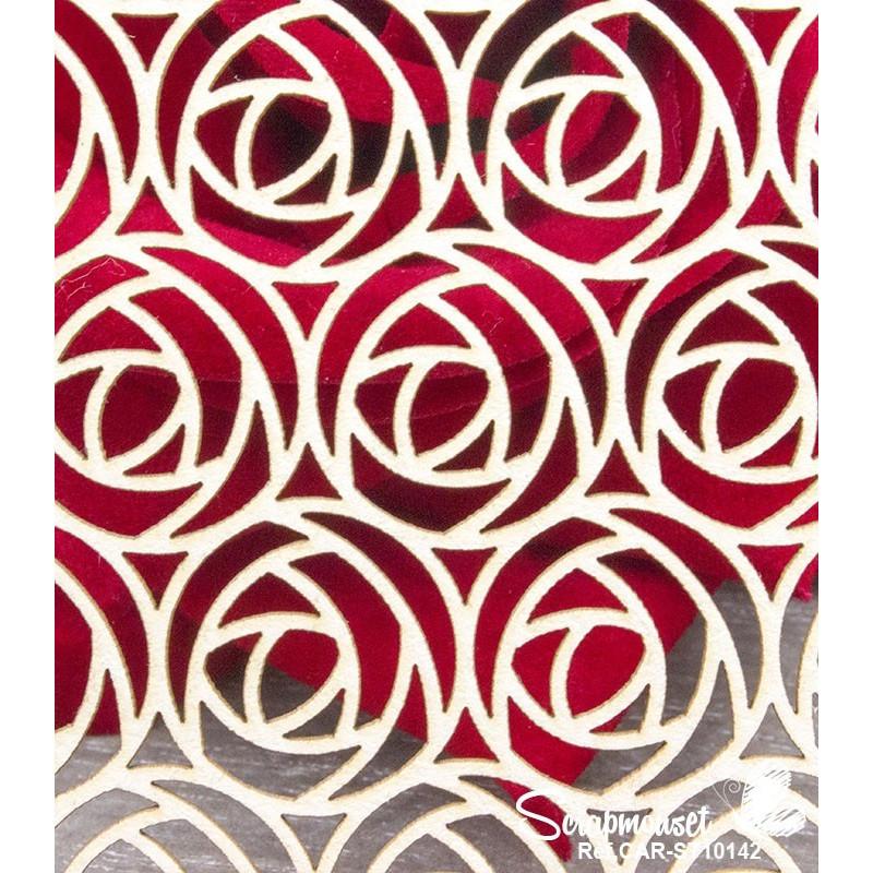 "Chipboard ""Fond Roses"" de Scrapmouset"