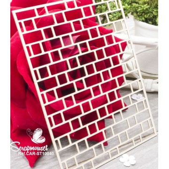 "Chipboard ""Fond Mur de briques"" de Scrapmouset"