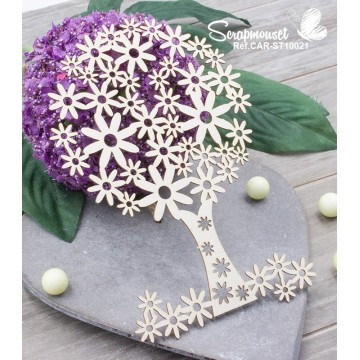 "Chipboard ""Arbre fleuri"""