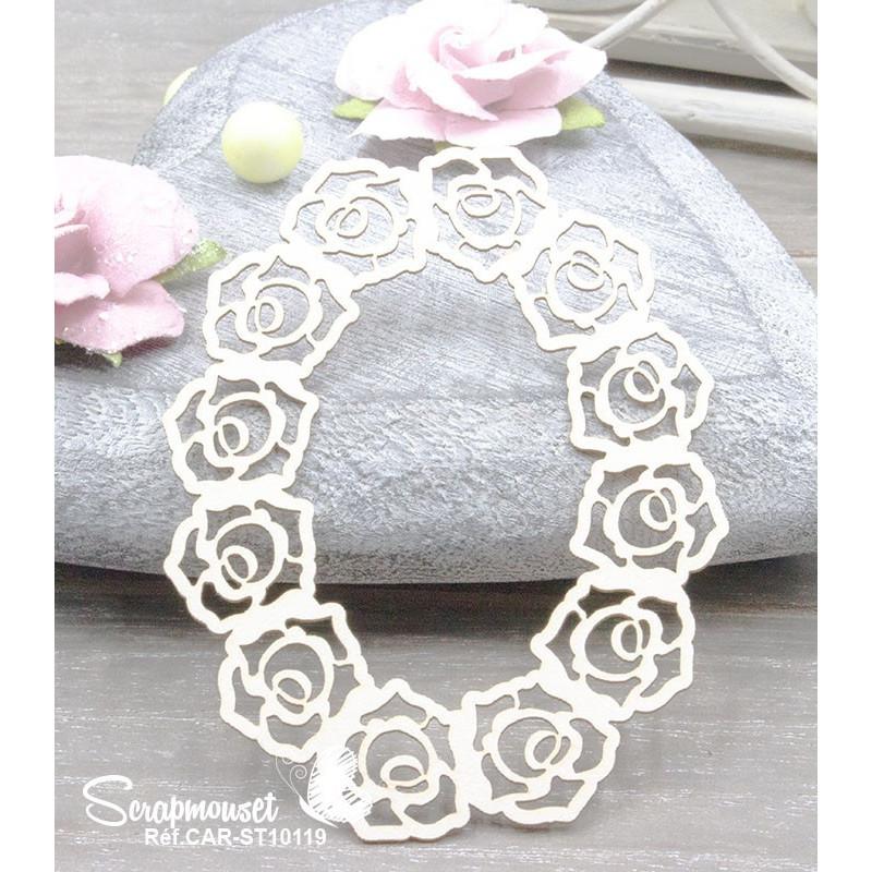 """Chipboard """"Cadre élégant avec roses"""""""