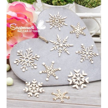 "Chipboards ""Petits flocons"""