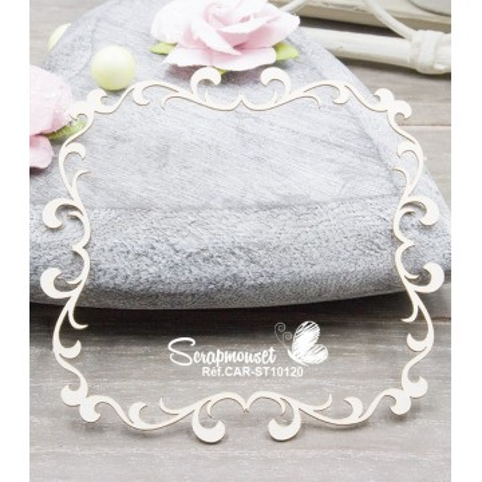 "Chipboard ""Cadre carré Francesca"" de Scrapmouset"