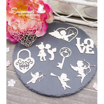"Chipboards "" Tendresse et amour"" de Scrapmouset"