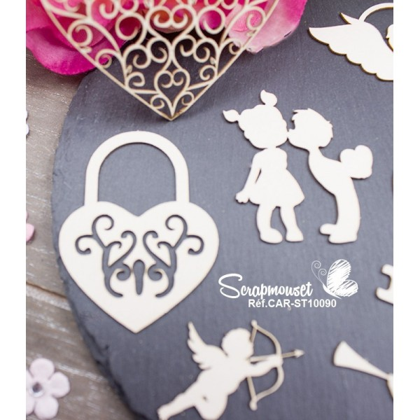 "Chipboards "" Tendresse et amour"""