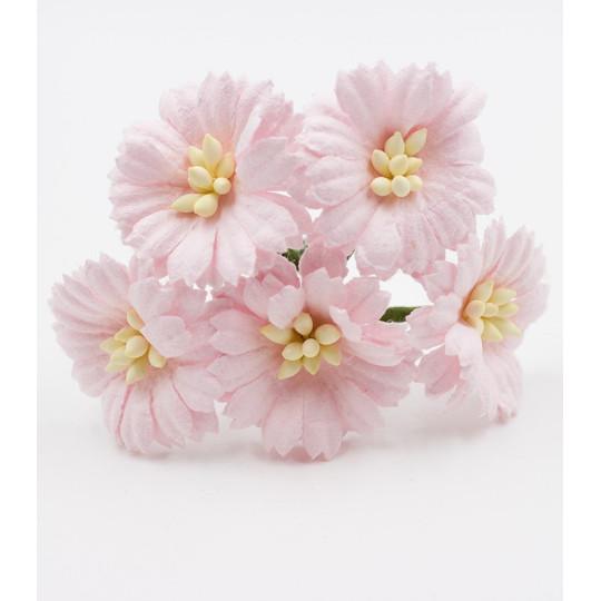 "Cosmos daisie ""Rose pastel"" en papier mûrier"