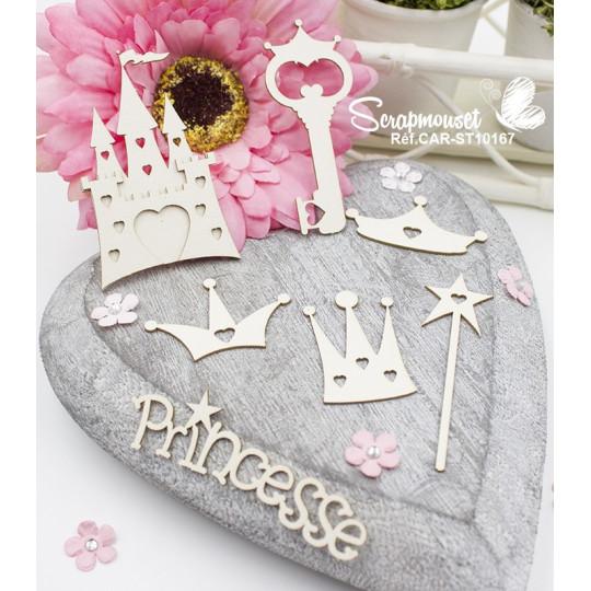 """Chipboards"""" Chateau de Princesse"""" de Scrapmouset"""