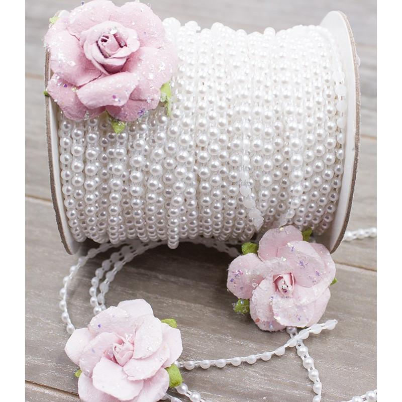 "Ruban de perles ""Blanc"""
