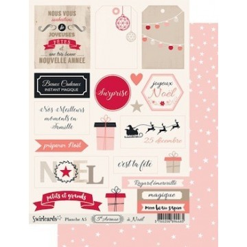 "Etiquettes ""5 th Avenue à Noël"" de Swirlcards"