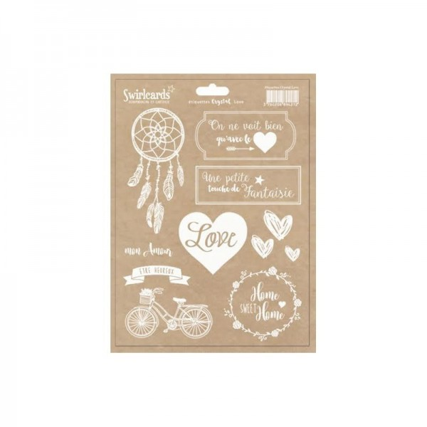 "Etiquettes ""Crystal Love "" de Swirlcards"