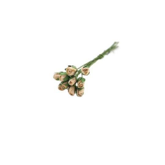 """Boutons de rose médium """"Taupe"""""""
