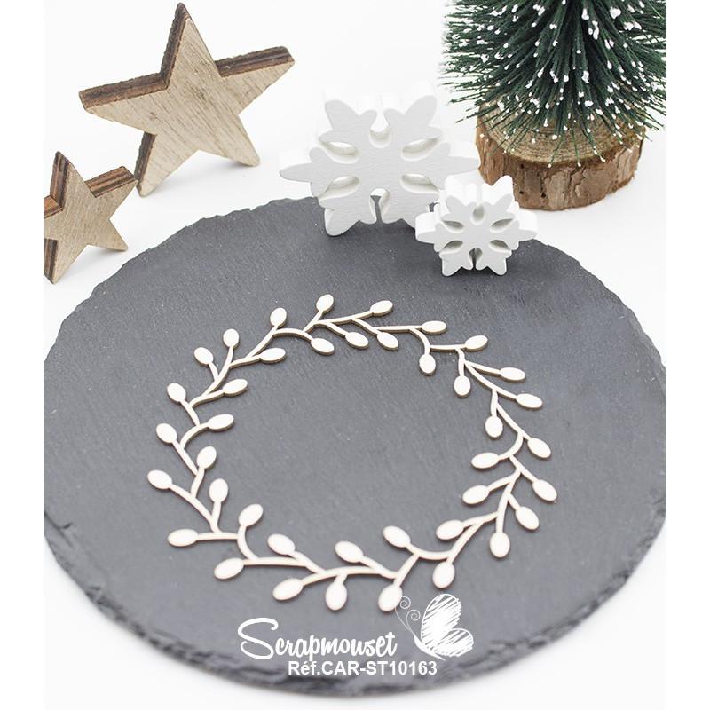 "Embellissement en carton bois ""Cadre de Noël"" de Scrapmouset"