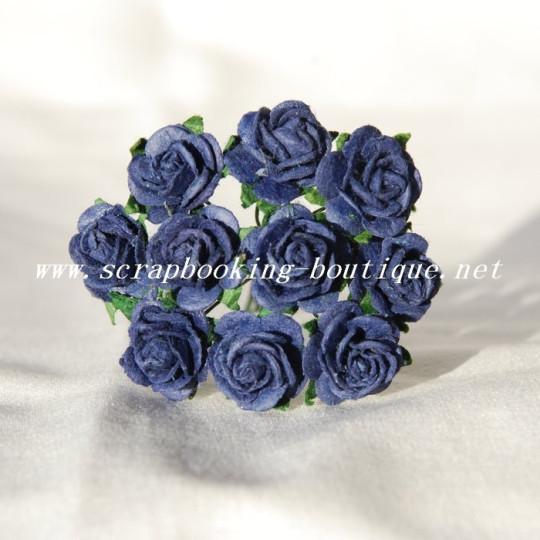 Roses 1.5 cm - Bleu marine