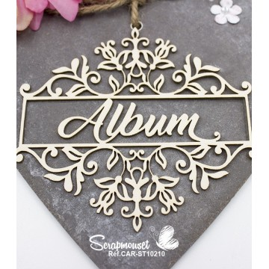 Embellissement Titre Album floral de Scrapmouset