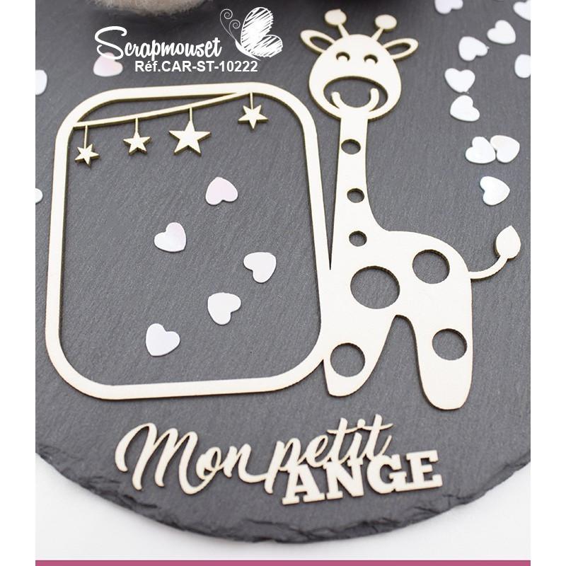 Embellissement scrap cadre girafe mon petit ange de Scrapmouset