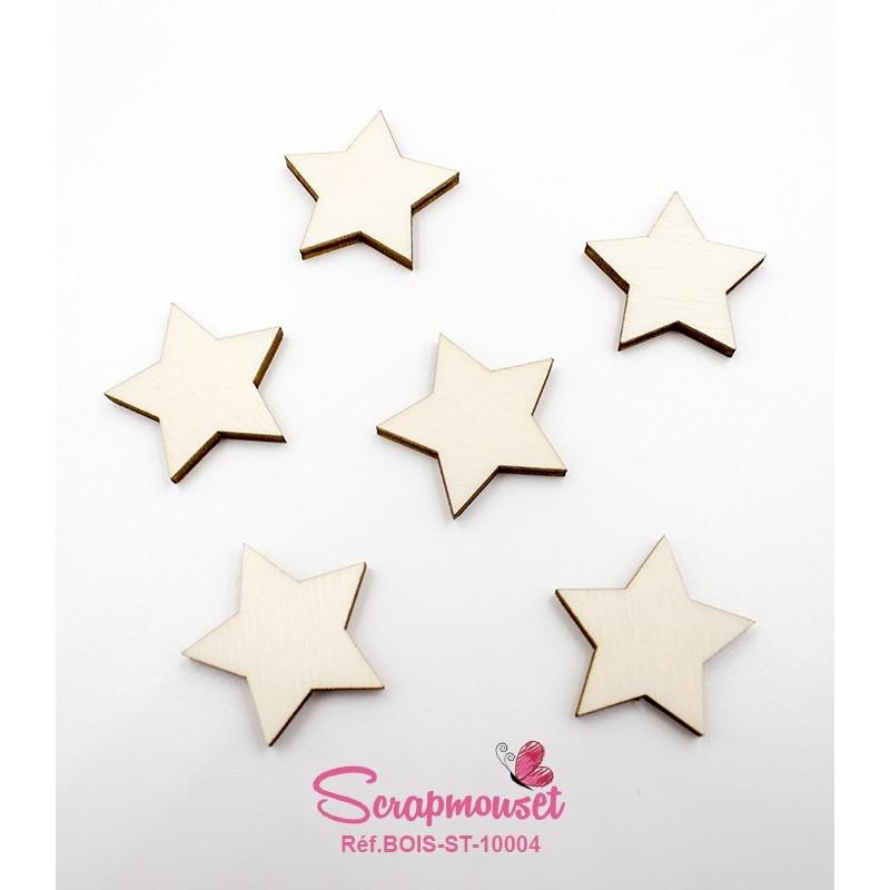 Set de petites étoiles en bois