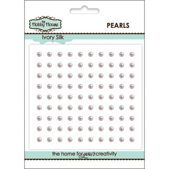 "Perles adhésives 3 mm ""Ivory Silk"""