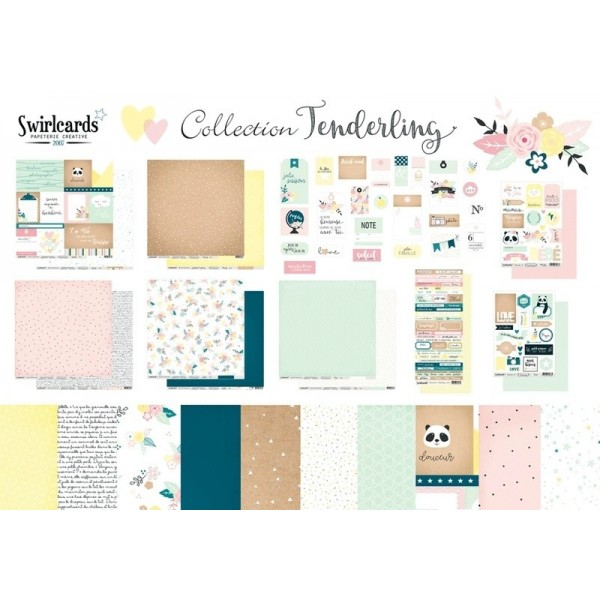 Pack papeterie créative collection Tenderling de Swirlcards