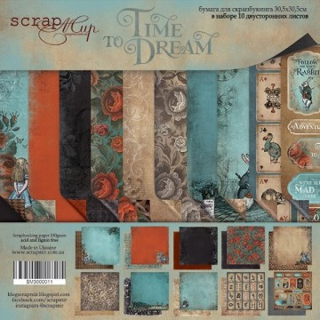 "Set de 10 papiers scrapbooking collection ""Time to Dream"" de Scrapmir"