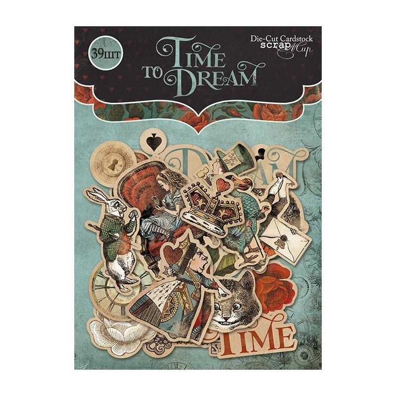 "Die-cuts cardstock ""Time to Dream"""
