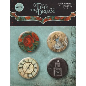 "Lot de 4 badges collection ""Time to Dream"" de Scrapmir"