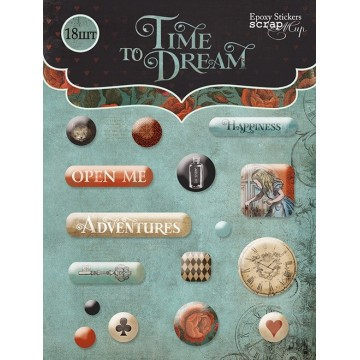 "Lot de 18 stickers epoxy collection ""Time to Dream"""